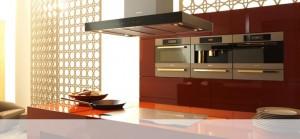 Vitvaror från Miele i köksutställningen hos Björkman Design
