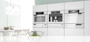 Miele inbyggnadsvitvaror i köksutställningen hos Björkman Design