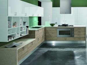 Modernt kök med fanerad kökslucka
