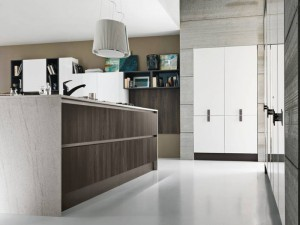 Moderna kök med industriell design