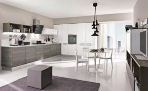 Lyxigt Modernt kök med öppen planlösning