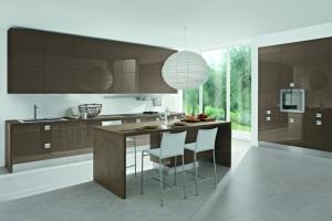 Modernt kök - Glossy struktur/lackat