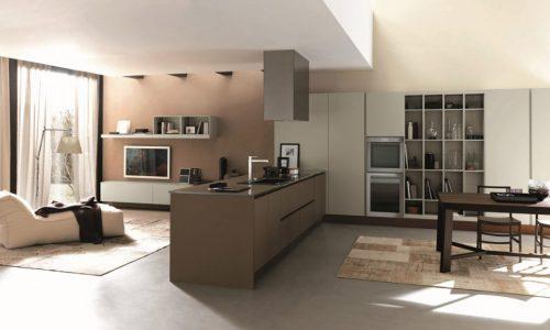 Modernt kök för öppen planlösning